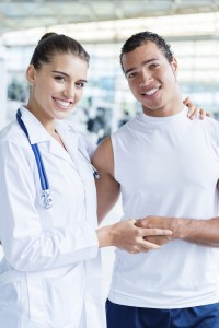 Physiotherapist with a patient